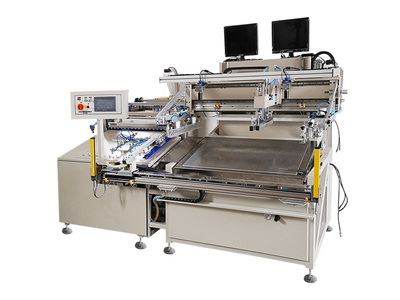 HY-D58 Improved Double-sided Dust Removal Camera Assisted Loading Automatic Screen Printing Machine